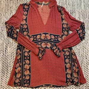 Free People Tunic Top - Reds